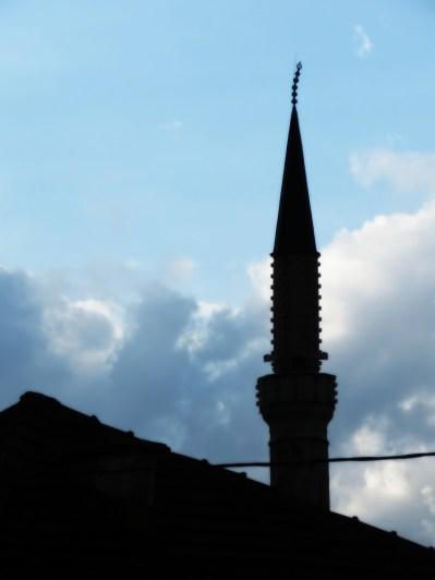 Sideways Minaret of Sarajevo- Bosnia and Herzegovina - by Anika Mikkelson - Miss Maps - www.MissMaps.com