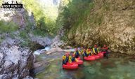 The Travel Blog Team and our guide Canyoning on Rakitnica River - Bosnia and Herzegovina BiH - photo by VisitKonjic.com