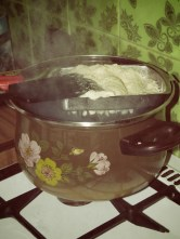 Making Tiny Potato Dumplings - Preparing Bryndzové halušky - Slovakia - by Anika Mikkelson - Miss Maps - www.MissMaps.com