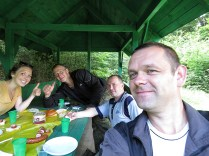 Our Moped and Picnic Crew - National Park Belovezhskaya Pushcha - by Anika Mikkelson - Miss Maps - www.MissMaps.com
