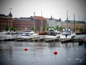 Boats at Bay - Helsinki Finland - by Anika Mikkelson - Miss Maps - www.MissMaps.com