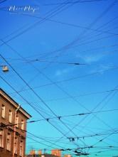 Crossed Wires - St Petersburg Russia - by Anika Mikkelson - Miss Maps - www.MissMaps.com