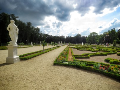 Despite how they may look, the gardens were swarming with visitors - Bialystok Poland - by Anika Mikkelson - Miss Maps - www.MissMaps.com