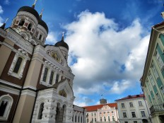 Main Square in Old Town - Tallin Estonia - by Anika Mikkelson - Miss Maps - www.MissMaps.com copy