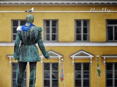 Put a Bird On It - Statue of Alexander III - Helsinki Finland - by Anika Mikkelson - Miss Maps - www.MissMaps.com
