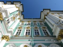 The Winter Palace as seen from Below - St Petersburg Russia - by Anika Mikkelson - Miss Maps - www.MissMaps.com