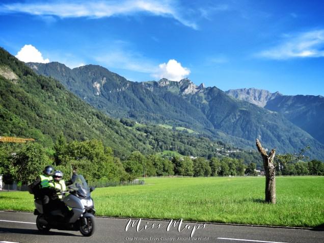 Waving Hello and Goodbye - The Road to Liechtenstein - by Anika Mikkelson - Miss Maps - www.MissMaps.com