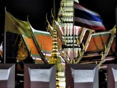 Grand Palace and Thai Flag - Bangkok Thailand - by Anika Mikkelson - Miss Maps - www.MissMaps.com