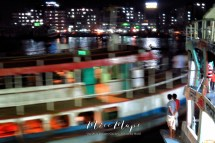 Watching the Rocket Steamers Leave at Night - Dhaka to Sunderbands Bangladesh - by Anika Mikkelson - Miss Maps - www.missmaps.com