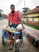 Trishaw Driver - Mongla Bangladesh - by Anika Mikkelson - Miss Maps - www.MissMaps.com