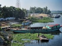 Loading the Boat - Rural Bangladesh - by Anika Mikkelson - Miss Maps - www.MissMaps.com