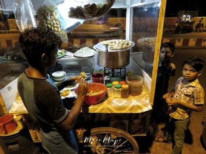 Selling Puchka Dinner - Sylhet Bangladesh - by Anika Mikkelson - Miss Maps - www.MissMaps.com