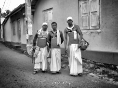 Traditional Musicians on New Years Day in Black and White - Galle Sri Lanka - by Anika Mikkelson - Miss Maps - www.MissMaps.com