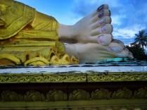 Feet of Mya Tha Lyaung Reclining Buddha - Pagu Bago Myanmar - by Anika Mikkelson - Miss Maps - www.MissMaps.com copy