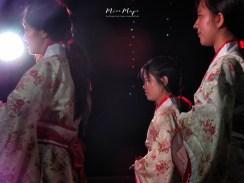 Female Chinese New Year Dancers - Chinatown - Downtown Yangon Myanmar - by Anika Mikkelson - Miss Maps - www.MissMaps.com