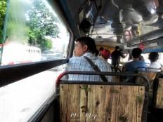 Inside of a Typical Bus - Yangon Myanmar - by Anika Mikkelson - Miss Maps - www.MissMaps.com