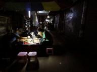 My first Myanmar Blackout - Chinatown - Yangon Myanmar - by Anika Mikkelson - Miss Maps - www.MissMaps.com