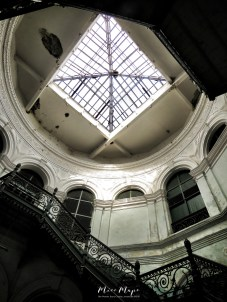 Secretariat Building Staircase and Dome Light - Yangon Myanmar - by Anika Mikkelson - Miss Maps - www.MissMaps.com