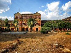The Secretariat Building Outside - Yangon Myanmar - by Anika Mikkelson - Miss Maps - www.MissMaps.com