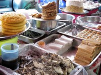 Traditional Myanmar Street Food Sweets - Yangon Myanmar - by Anika Mikkelson - Miss Maps - www.MissMaps.com