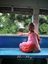 Young Nun on the Train Bago to Yangon Myanmar - by Anika Mikkelson - Miss Maps - www.MissMaps.com