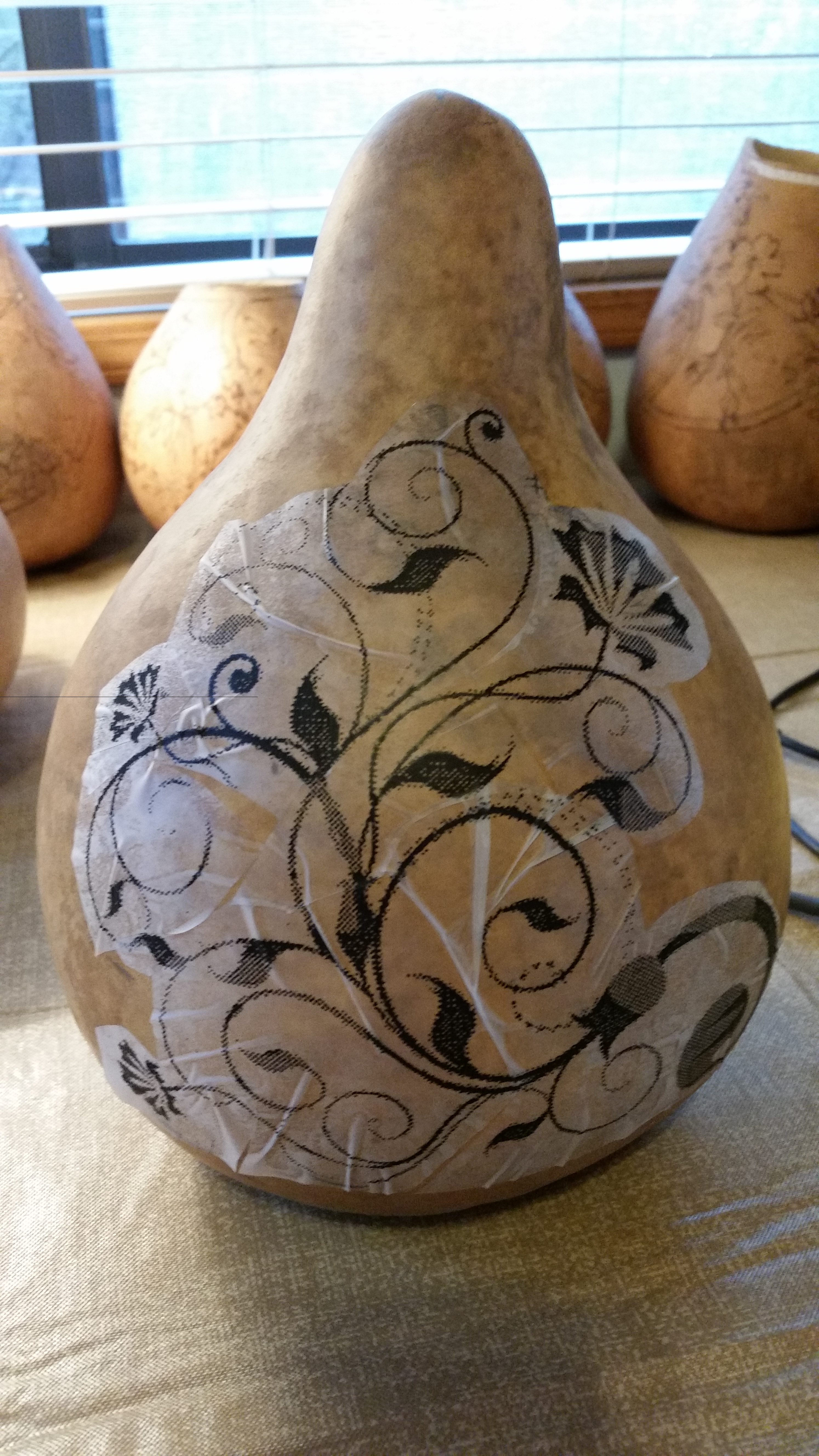 How to Transfer Design onto Gourd (#2 in series)