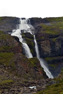 Roadside waterfall