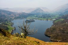 Hiking to the top of Loughrigg Fell