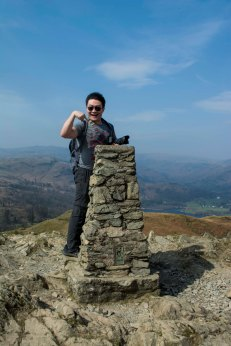 Trig point of Loughrigg Fell
