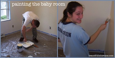 painting the baby nursery