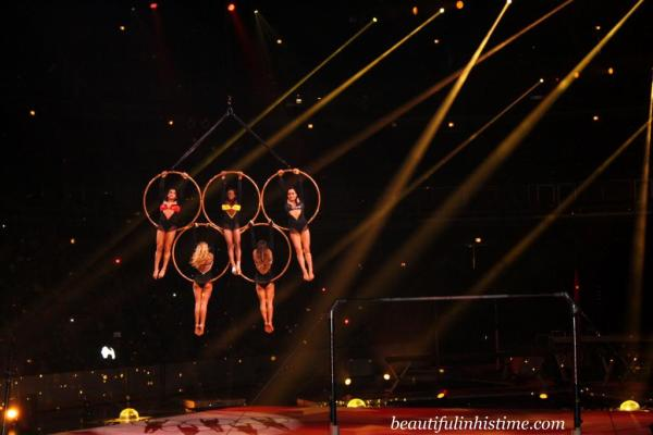 Kellogg's Tour of Gymnastics Champions Olympic Rings with Nastia Luitkin