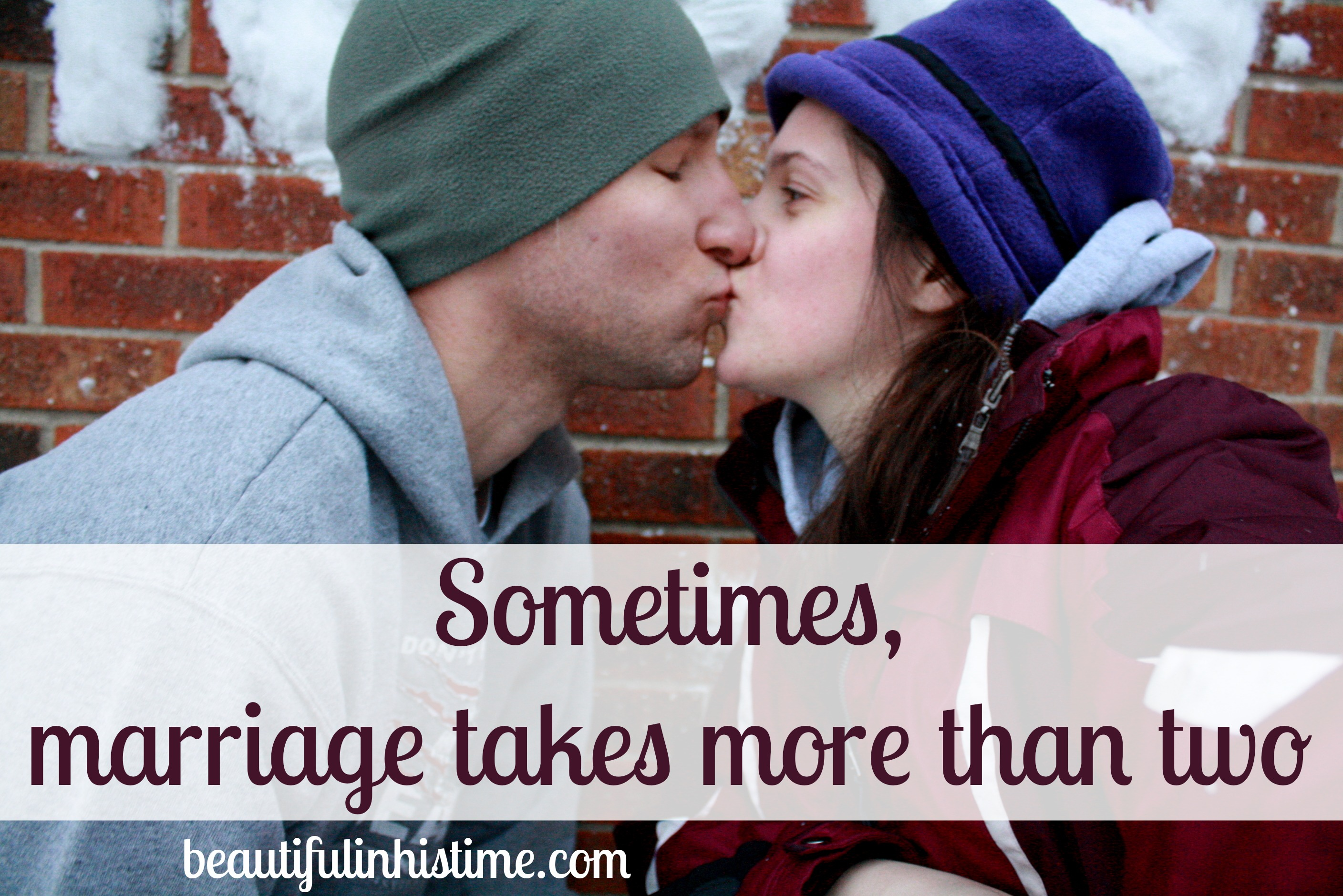 Sometimes, marriage takes more than two