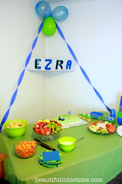 Ezra's first birthday party