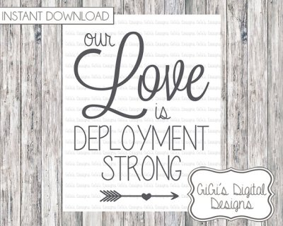 Our Love is Deployment Strong Print, Digital Print, Modern Wall Art, Instant download, Digital Art, Home Decor, Printable Art, Military
