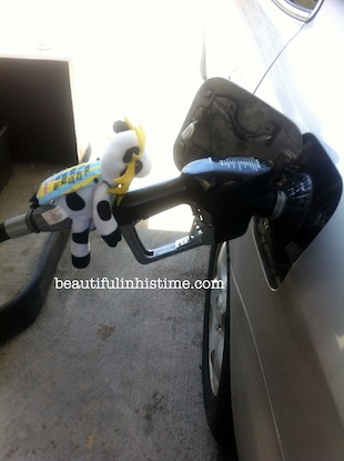 02 chickfila cow pumping gas