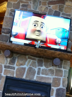 35 chickfila cow watching thomas the tank engine