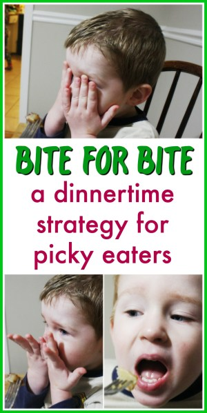 Bite for bite: a dinnertime strategy for picky eaters   how to get your kids to eat when they refuse to open their mouth   dinner with kids   picky toddlers