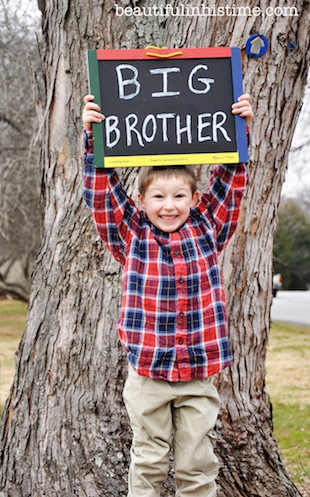 big brother baby announcement chalkboard sign
