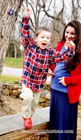 boy finds out he's going to be a big brother