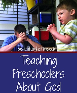 teaching preschoolers about God