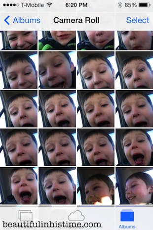 14 little boy gets ahold of the iphone