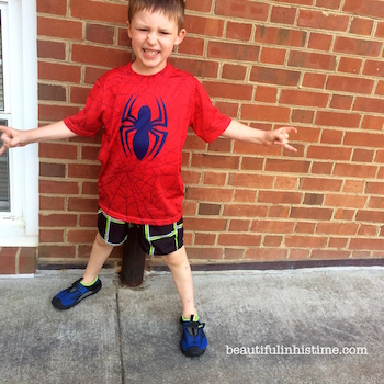 21 spider man water play day