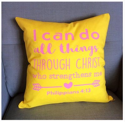 Bible Verse Scripture Cushion, Philippians 4.3