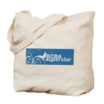 """BCBA Superstar"" tote bag (also available in white and black coffee mugs)"