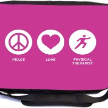 Peace Love Physical Therapist Premium Messenger Bag