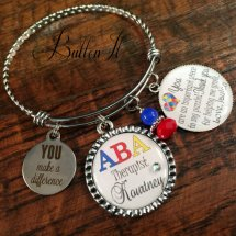 AUTISM awareness ABA therapist appreciation BANGLE