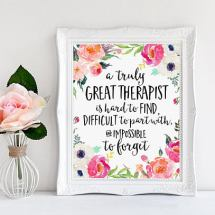 A truly great therapist is hard to find Custom Quote Print