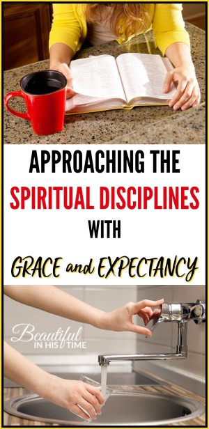 I don't have to strive and grind and just grin and bear the spiritual disciplines regardless of my desire. But I still have to turn the water on. It isn't about checking a box or doing a duty; rather, it is the opening of a floodgate. It is coming to my sink with an empty cup and simply turning on the water.