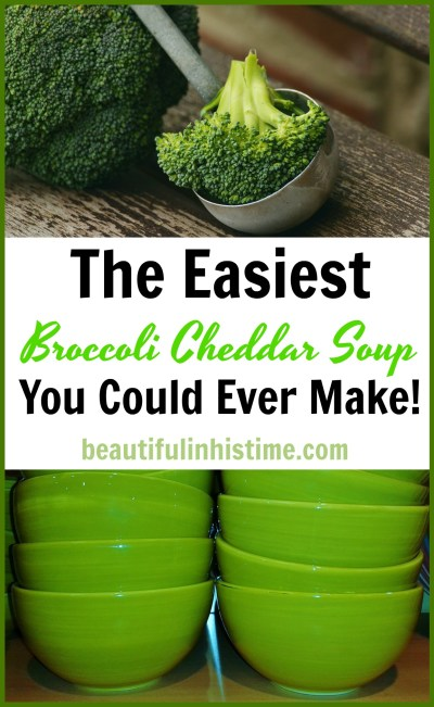 The Easiest Broccoli Cheddar Soup You Could Ever Make! Broccoli Cheddar Soup Recipe