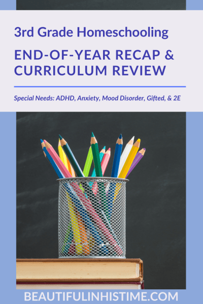 3rd Grade Homeschooling End-of-Year Recap & Curriculum Review | Special Needs: ADHD, Anxiety, Mood Disorder, Gifted, & 2E #masterbooks #thegoodandthebeautiful #specialeducation